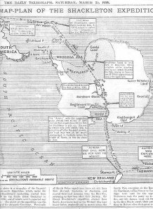 Shackleton Expedition Map-Plan. Wikimedia Commons.